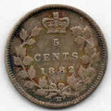 Canada 5 Cent 1882 H (Nickel) (92.5% Silver)
