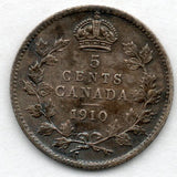 Canada 5 Cent 1910 (Nickel) (92.5% Silver)