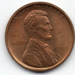 1909-P-VDB Lincoln Cent (Wheat Penny)