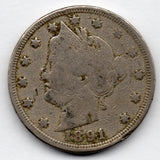 1891 Liberty Head Nickel (V Nickel)
