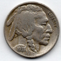 1938-D/S Buffalo Nickel (V Nickel)