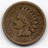 1859 Indian Head Cent (Indian Head Penny)