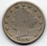 1887 Liberty Head Nickel (V Nickel)