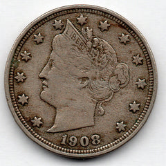 1908 Liberty Head Nickel (V Nickel)