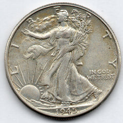 1945-P Walking Liberty Half Dollar (90.0% Silver)