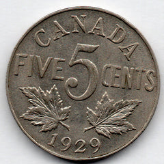 Canada 5 Cent 1929 (Nickel)