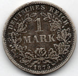 Germany 1 Mark 1875 F (90.0% Silver)