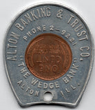Alton Banking Company 1950 Encased Cent