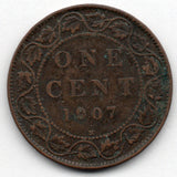 Canada Large Cent 1907 H (Penny)