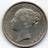 Great Britain 1 Shilling 1885 (92.5% Silver)