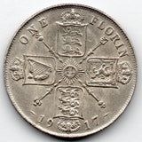 Great Britain 1 Florin 1917 (92.5% Silver)