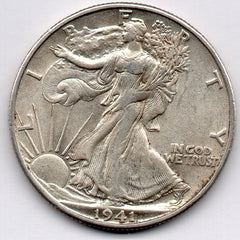 1941-D Walking Liberty Half Dollar (90.0% Silver)