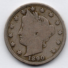 1890 Liberty Head Nickel (V Nickel)