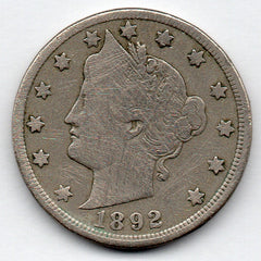 1892 Liberty Head Nickel (V Nickel)