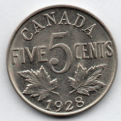 Canada 5 Cent 1928 (Nickel)