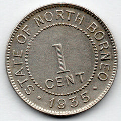 British North Borneo 1 Cent 1935 H