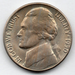 1950-D Jefferson Nickel