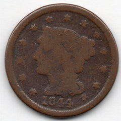 1844 Large Cent (Braided Head Penny)