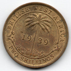 British West Africa 2 Shillings 1939 H