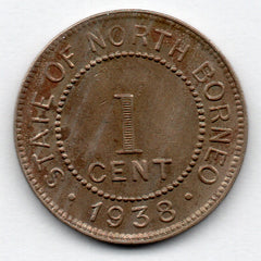 British North Borneo 1 Cent 1938 H