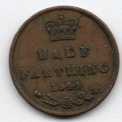 Great Britain 1/2 Farthing 1844