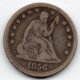 1856-P Seated Liberty Quarter (90.0% Silver)