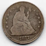 1877-S Seated Liberty Quarter (90.0% Silver)