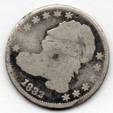 1832 Capped Bust Dime (89.0% Silver)