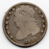 1835 Capped Bust Dime (89.0% Silver)