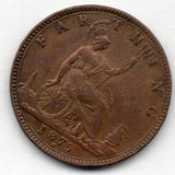 Great Britain 1 Farthing 1875 H