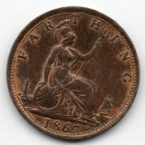 Great Britain 1 Farthing 1867