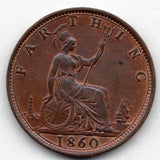 Great Britain 1 Farthing 1860