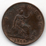 Great Britain 1 Farthing 1868