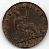 Great Britain 1 Farthing 1881