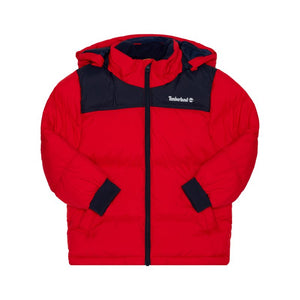 TIMBERLAND PUFFER JACKET RED