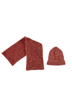 Afbeelding in Gallery-weergave laden, NONO WINTERSET SCARF + BEANIE INDIAN ROSE