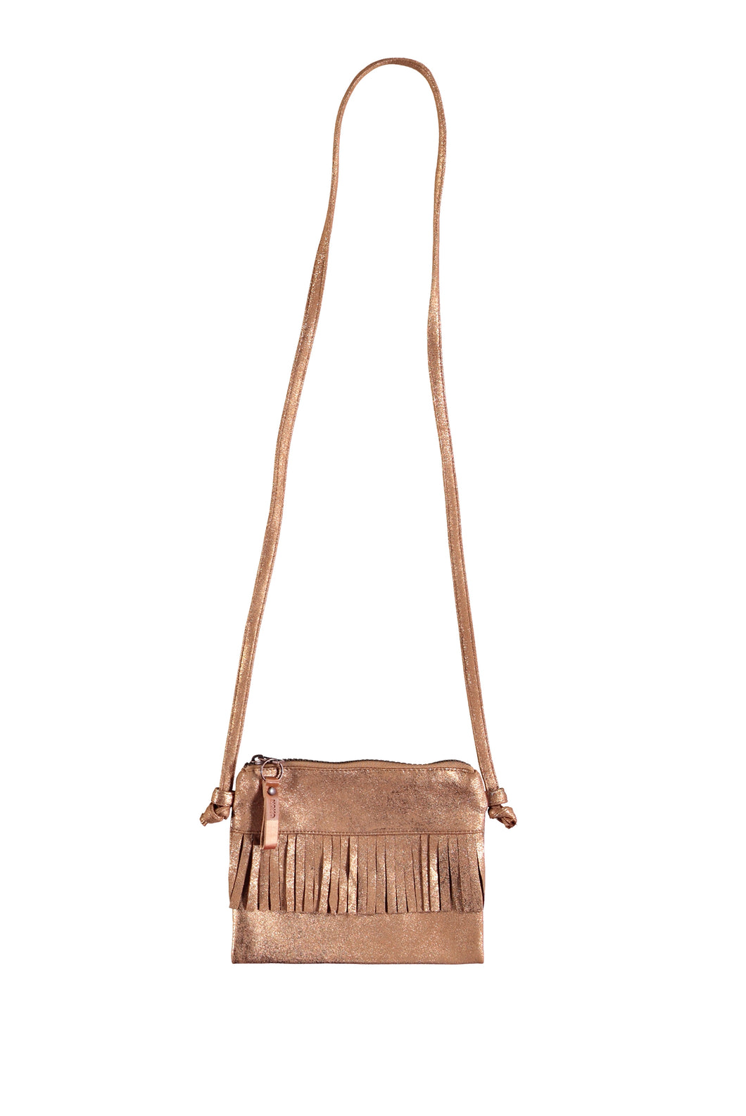 NONO BAG WITH FRINGES CINNAMON