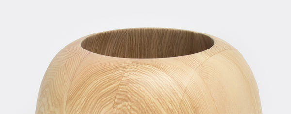 Natural ash centerpiece bowl