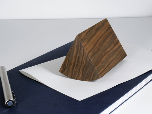 Anchor paperweight walnut - small