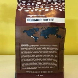 Organic Fair Trade 3 bean Espresso - Sally Sue's Coffee