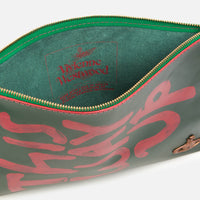 Vivienne Westwood I am expensiv Pouch Bag Green