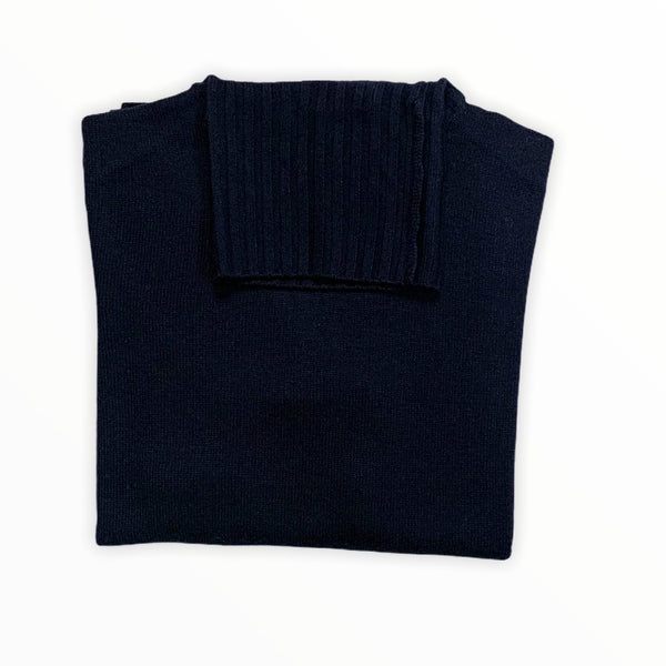 FaustDrang Rollneck Sweater Merino F8 Man Navy