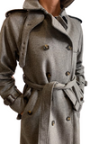 L'impermeabile Nelson New Army Long Trench jacket