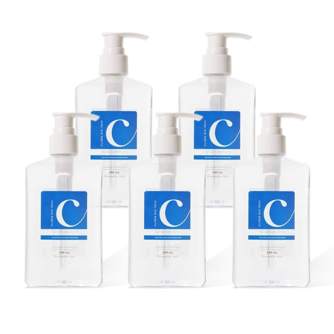 Clisen Hand Sanitizer GEL (8 oz) 5 Pcs Value Pack