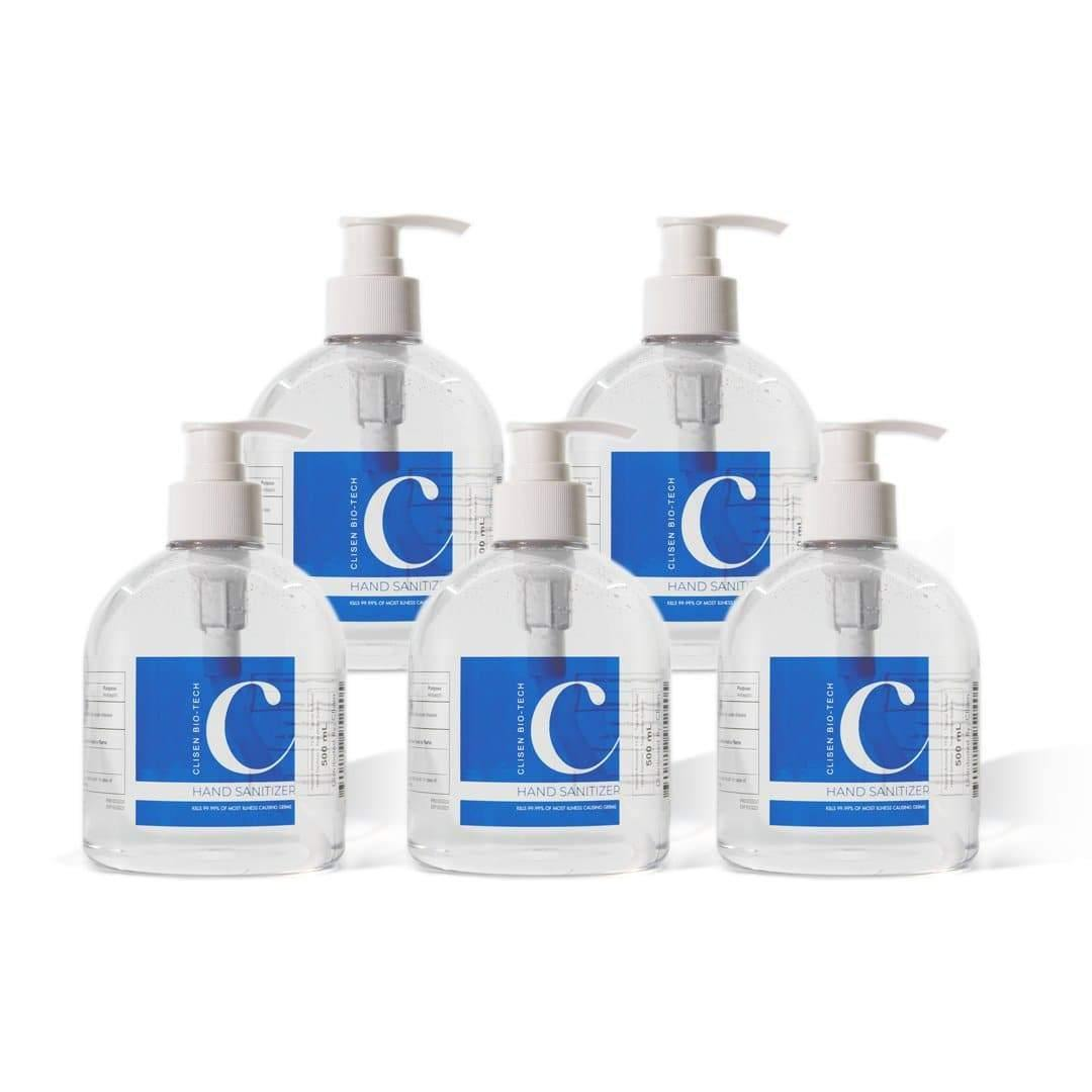 Clisen Hand Sanitizer GEL (16.9 oz) 5 Pcs Value Pack
