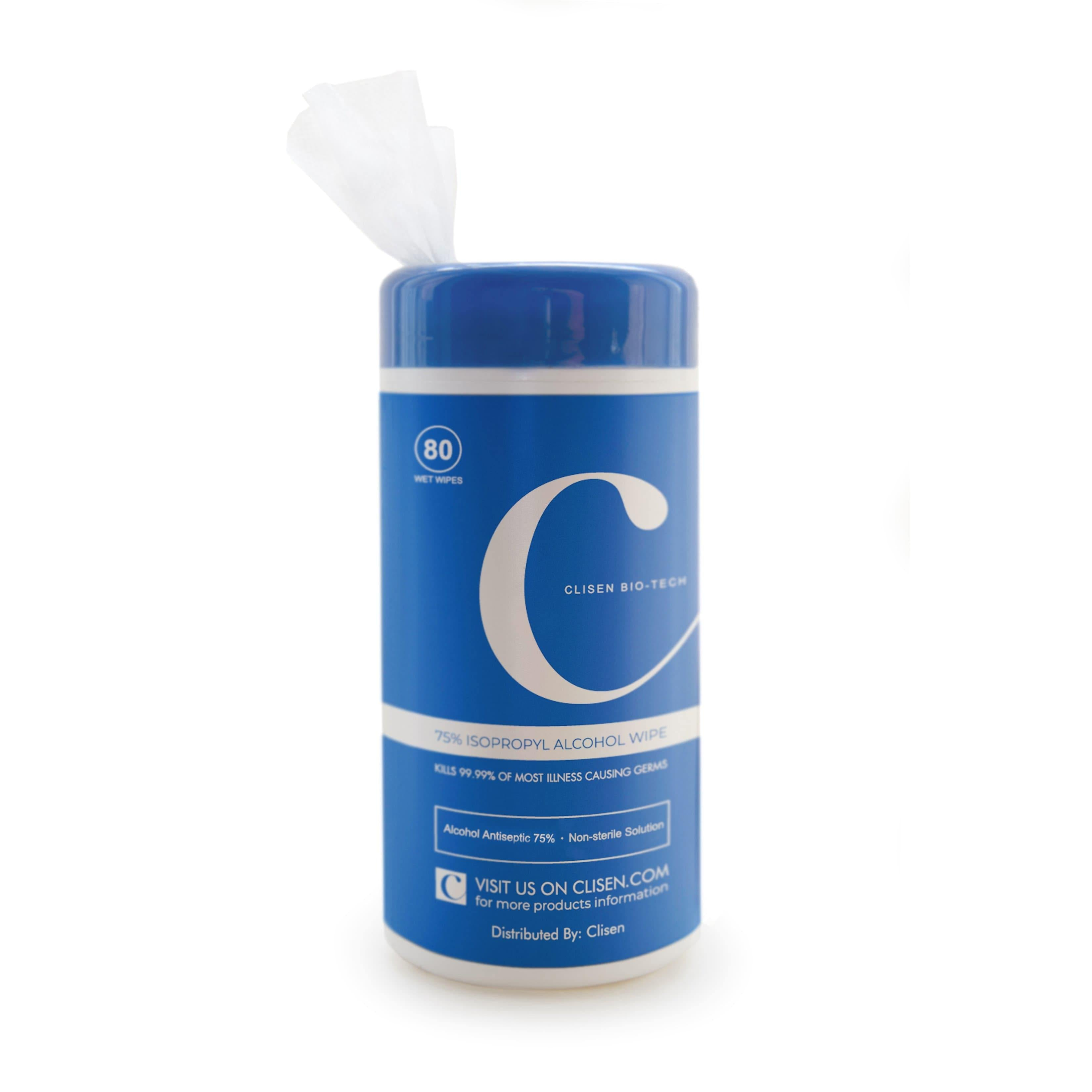 Clisen Anti-Bacterial Wipes 75% Ethyl Solution 5 pcs Value Pack