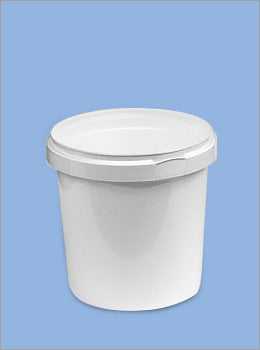 1 Litre Plastic Tub with Handle and Tamper Evident Lid