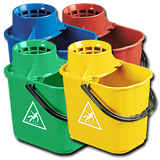 Optima Professional Socket Mop Bucket Colour Coded 12Ltr - NCSONLINE
