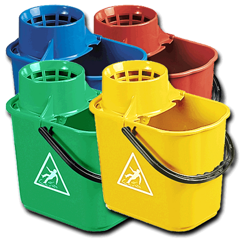 Optima Professional Socket Mop Bucket Colour Coded 12Ltr