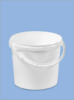 5 Litre Plastic Tub with Handle and Tamper Evident Lid - NCSONLINE